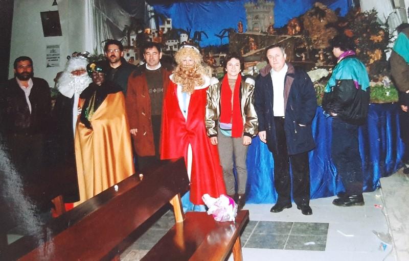 María José Montero Núñez la primera vez que fueron 'los Reyes' al municipio.