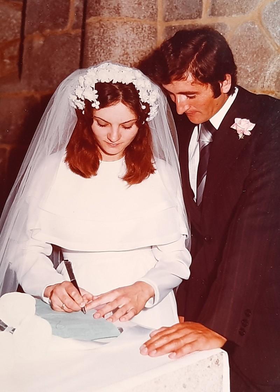 María José Montero Núñez el día de su boda.