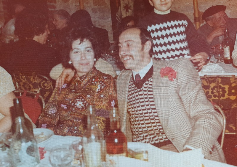 Violeta Arias y José Franganillo en una celebración.