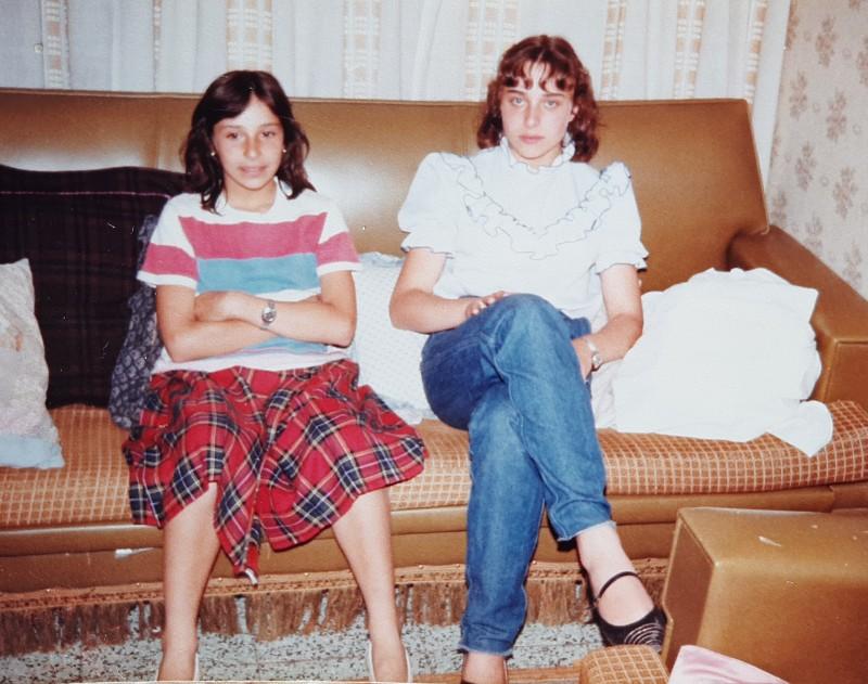Sus dos hijas