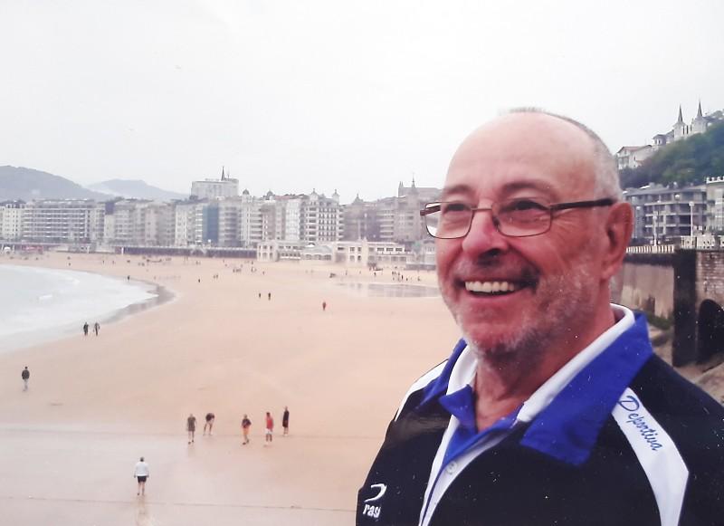 José Franganillo, marido de Violeta y utilllero de la Ponferradina durante más de 10 años.
