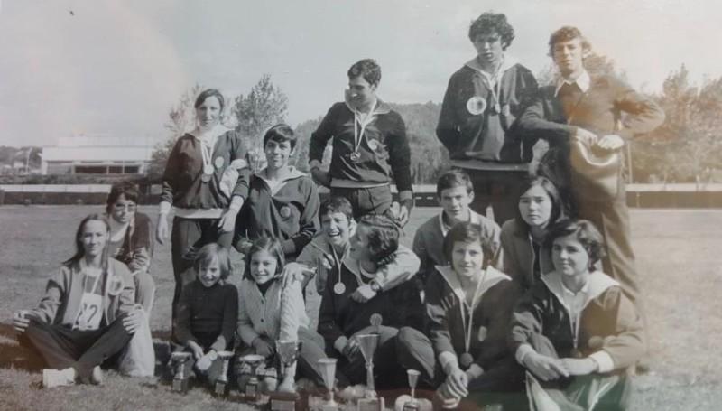 Colomán Trabado y sus compañeros del Endesa en Ponferrada